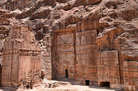 khazneh: Rock cut architecture in Petra