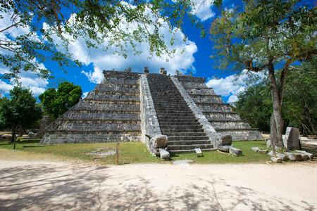 Mayan pyramid in Chichen Itza - Mexico photo