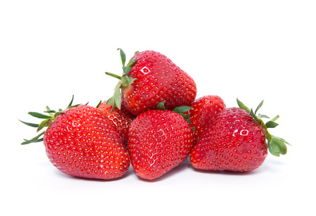 The strawberry isolated over white 스톡 콘텐츠