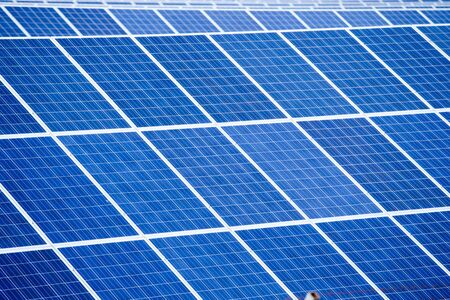 solar panels: Solar panel detail abstract - renewable energy source