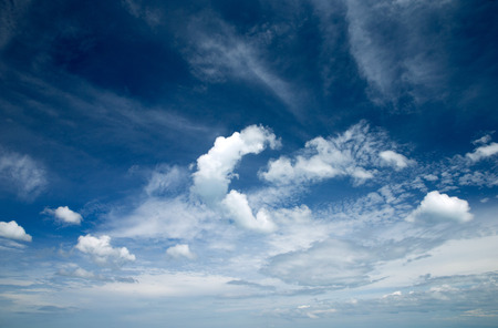 dispel: sky background with tiny clouds Stock Photo
