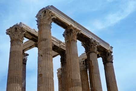 olympian: Temple of the Olympian Zeus and the Acropolis in Athens, Greece