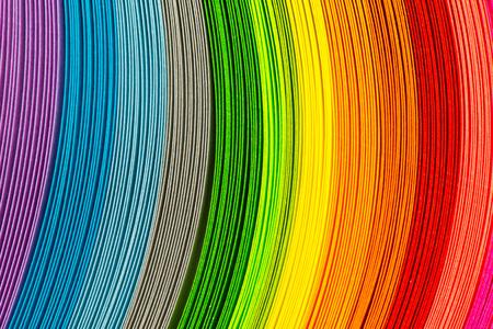 Strisce di carta in un arcobaleno di colori come sfondo colorato Archivio Fotografico - 39605480