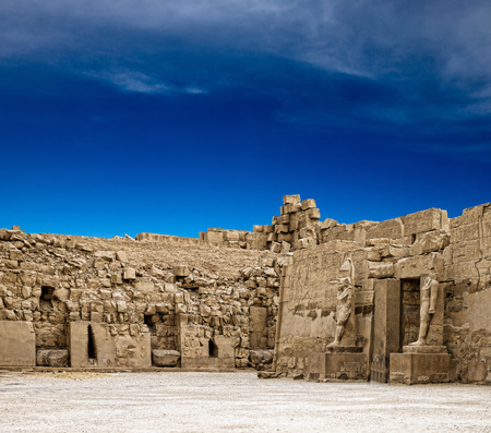 ruins is ancient: Ancient ruins of Karnak temple in Egypt Stock Photo