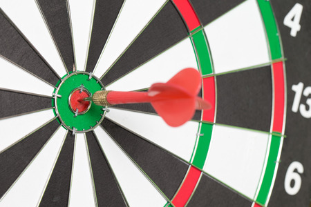 TARGET: darts arrows in the target center Stock Photo