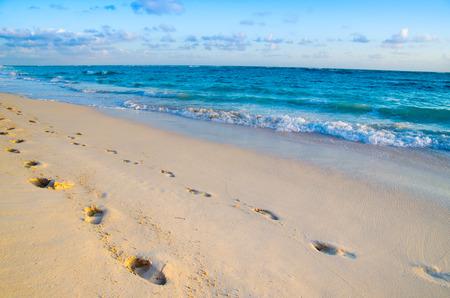 beach scene: beach and beautiful tropical sea