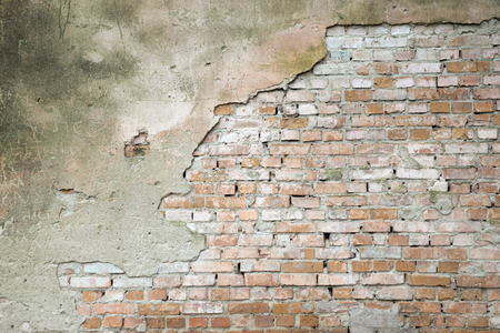 broken wall: pared de ladrillo para el fondo o la textura Foto de archivo