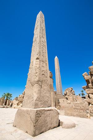 obelisk: Obelisk of Queen Hapshetsut in Karnak, Egypt Stock Photo