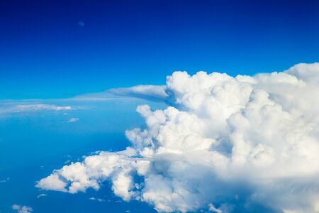 cloud background: blue sky with cloud closeup