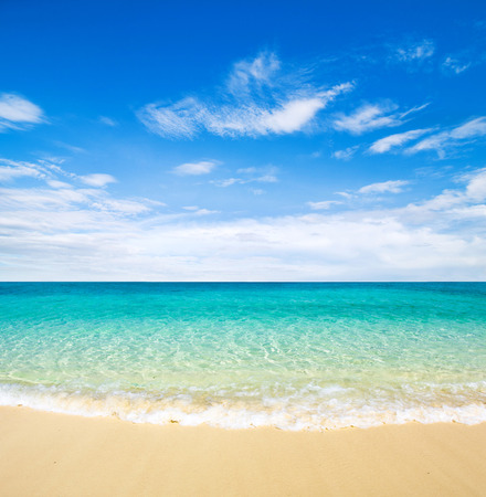 beautiful beach and tropical sea Stock fotó