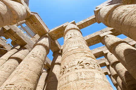 ancient buildings: Ancient ruins of Karnak temple in Egypt Stock Photo