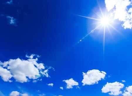 sun at clear blue sky