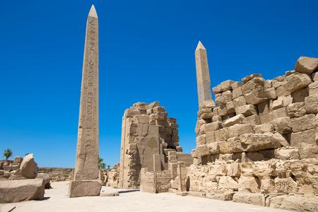 obelisk stone: Obelisk of Queen Hapshetsut in Karnak, Egypt Stock Photo