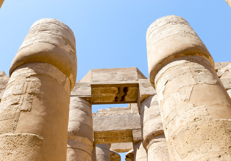 temple: Ancient ruins of Karnak temple in Egypt Stock Photo