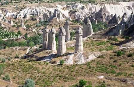anatolia: mountain landscape in Cappadocia, Anatolia, Turkey. Stock Photo