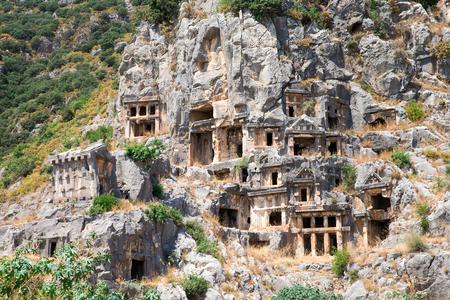 Ancient archeology in Myra, Turkey