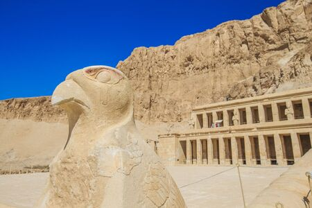 near: The temple of Hatshepsut near Luxor in Egypt