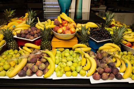 assortment: Assortment of juicy fruits background