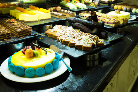 cakes and pastries: A variety of cakes Stock Photo