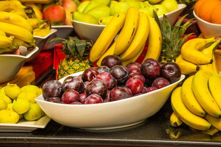 juicy: Assortment of juicy fruits background