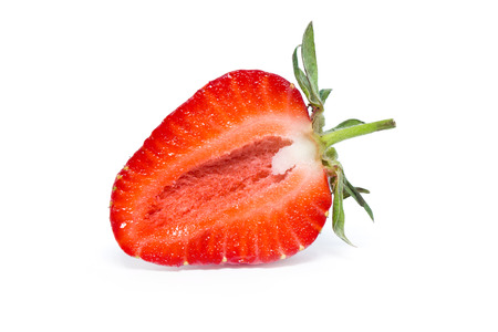 strawberries: strawberry isolated over white