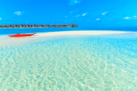 White tropical beach in Maldives