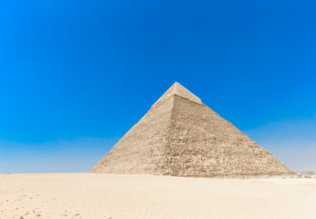 outrageous: pyramids with a beautiful sky of Giza in Cairo, Egypt.
