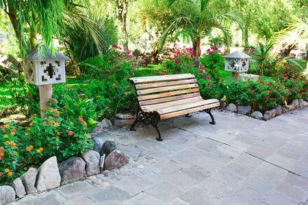 serene landscape: Garden landscape Stock Photo
