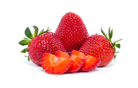 fruitage: strawberry isolated over white