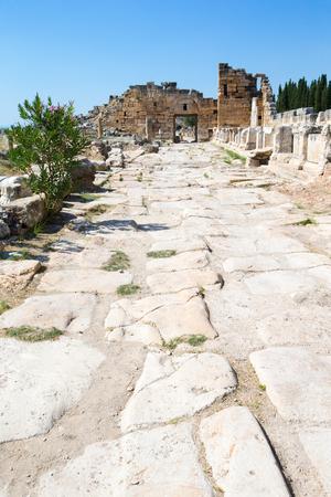 hierapolis: Ancient ruins in Hierapolis, Pamukkale, Turkey.
