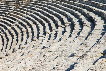 pamukkale: Amphitheater in Pamukkale, Turkey