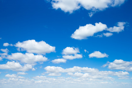 fleecy: sky background with tiny clouds Stock Photo