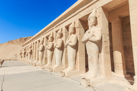 monument valley: The temple of Hatshepsut near Luxor in Egypt