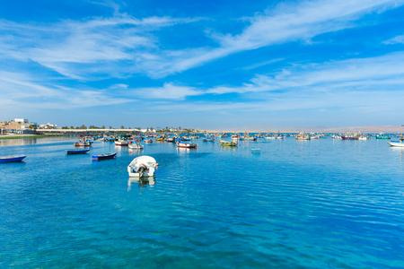 islas: PARACAS, PERU, Fishing boat in Islas Ballestas region
