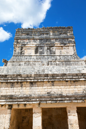 kukulkan: Kukulkan Pyramid in Chichen Itza Site, Mexico