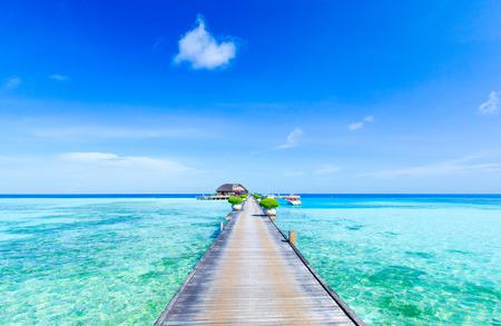 spiaggia in Maldive Archivio Fotografico