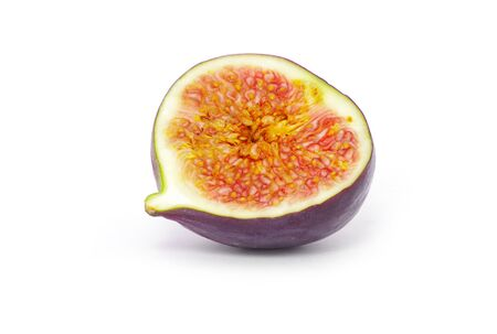 sweet segments: Fresh figs isolated on white Stock Photo