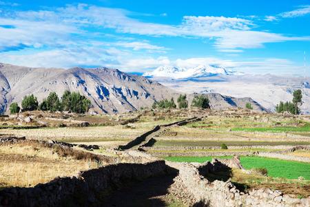 andes: landscape in Andes.  Peru.