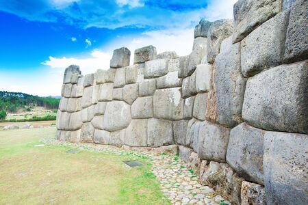 cusco: Sacsayhuaman : Inca archaeological site in Cusco, Peru