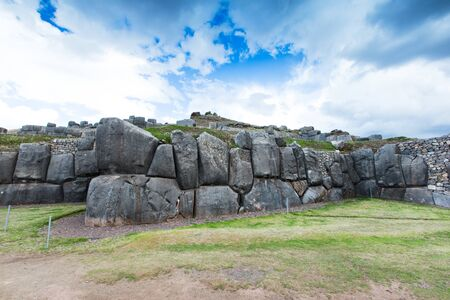 archaeological: Sacsayhuaman : Inca archaeological site in Cusco, Peru