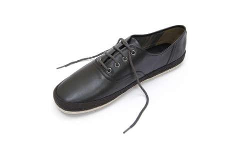 footgear: Male shoe on white