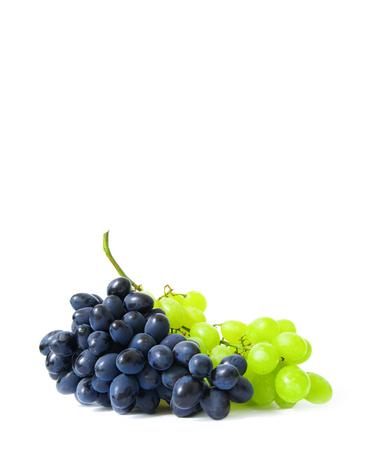white grape: grape  isolated on white background Stock Photo