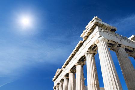 acropolis: Parthenon on the Acropolis in Athens, Greece Stock Photo