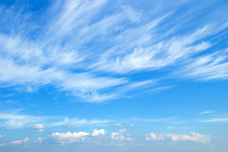 blue sky background with tiny clouds Stok Fotoğraf