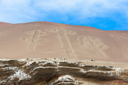 touristy: El Candelabro, Ballestas Islands, Peru, South America