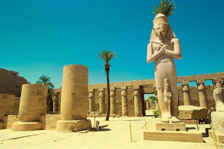 Afrika, Egypte, Luxor, Karnak tempel Stockfoto