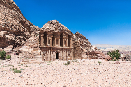 Ancient temple in Petra, Jordan Stock Photo