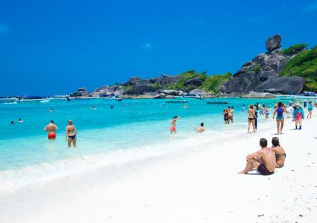 Phang Nga, Thailand-Mar 15, 2013 : clear water beautiful sea like a heaven at Similan island, Phang-nga Thailand