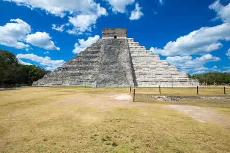 archaeological sites: Kukulkan Pyramid in Chichen Itza Site, Mexico
