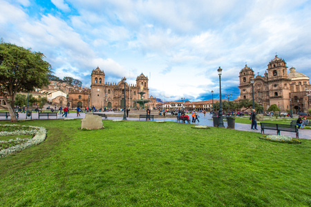 domingo: CUSCO PERU-NOV. 9: Cathedral of Santo Domingo on Nov. 9 2015 in Cusco Peru Building was completed in 1654, almost a hundred years after construction began. Editorial